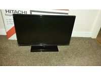 HITACHI 22 INCH LCD TELEVISION WITH BUILT IN DVD PLAYER