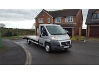 08 REG FIAT DUCATO 2.2 LWB SILVER RECOVERY TRUCK CAR TRANSPORTER MOT-18 ALLOY-BODY VERY CHEAP TRUCK