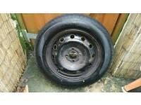 Car tyre 185 65 r15 on a renault scenic steel rim