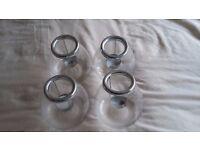 Four Glass Tealight Candle Lanterns
