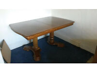 Vintage large extendable dining table
