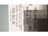 2 x Stone Roses Belfast Tix - seated