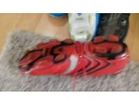 Three pairs Football boots
