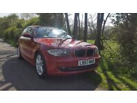 BMW 118D SE 5DR RED FSH, LATEST N47 ENGINE £30 YEAR TAX, TIMING CHAIN REPLACED