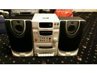 Cd tape and fm player with speakers