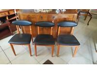 Set Of 3 Vintage Kitchen / Dining Chairs