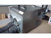 FireFlo FF29 4-spiggot Industrial Heater, inc. 2 lengths of flexible ducting (29ft & 28ft)