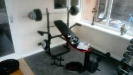Adidas weight bench with 55kg of weights