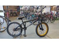 VOODOO BMX BIKE 20 INCH WHEELS REAR BRAKE ONLY BLACK/GOLD GOOD CONDITION