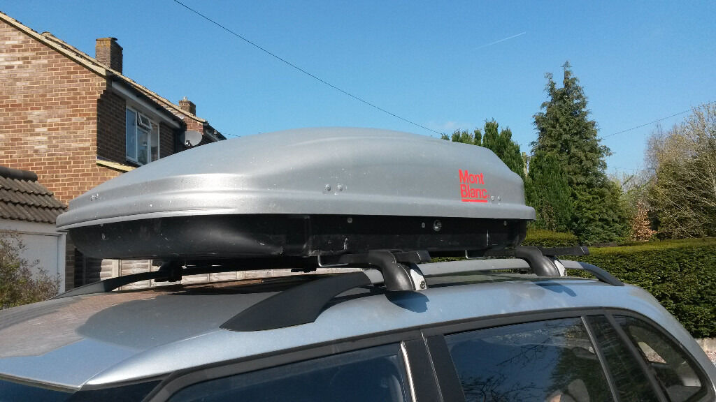 Mont Blanc Roof Box Cargo 320 L With Roof Bars To Attach