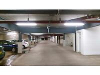 Space available in secure underground City Centre car park.
