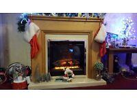 Be Modern Stanton Oak Electric Fireplace Suite