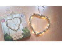 Light up wicker hearts