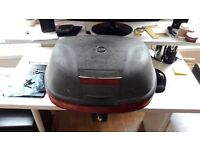 large givi monokey topbox inclusive of mounting plate (fits 2 helmets)