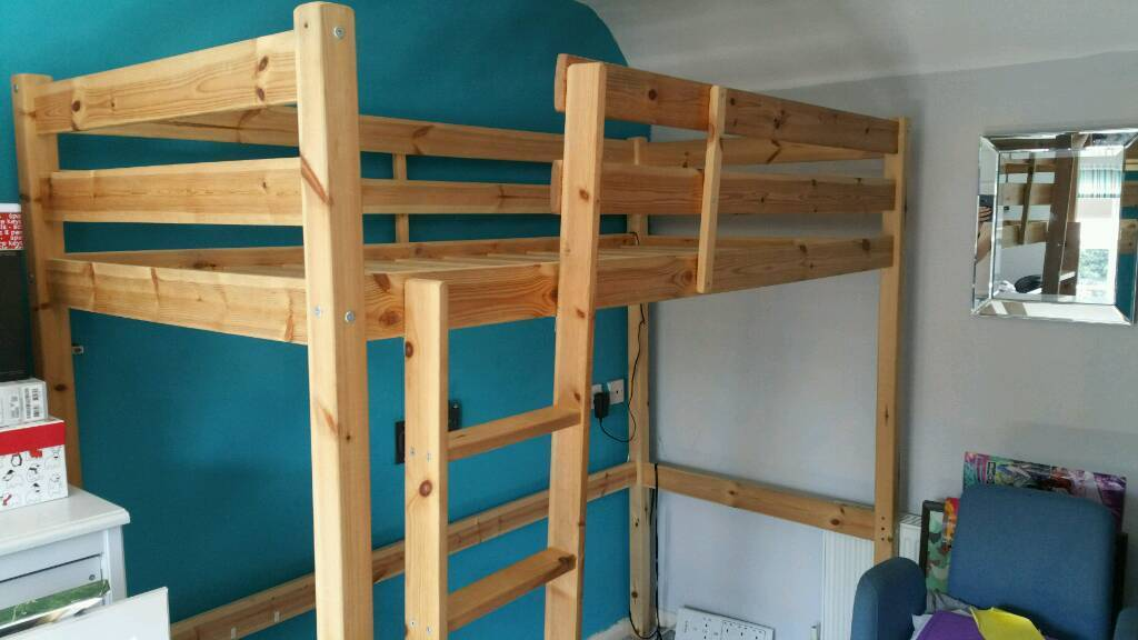 Pine High Sleeper Bed In Gloucester Gloucestershire Gumtree