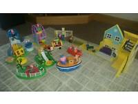 Peppa pig toy selection house, car , boat & more