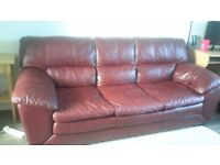 3 seater sofa from DFS, red- open to offers on price