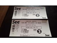 2 x Adult Carfest North tickets for Saturday 30th July