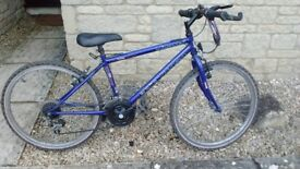 Gripshift epic 424 blue bike. For 8/9 year olds. 4 gears. Fair condition.