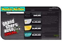 GTA v $2.5 million dollars game shark card grand theft auto 5 online money xbox one and ps4