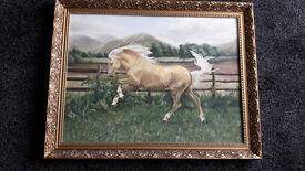 Beautiful Original Oil Painting of a Palomino Horse by Val Timms