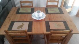 Ikea extendable dinning table 4 chairs