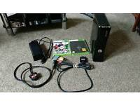 Xbox 360 S with power adapter, scart, Fifa 13 and Skyrim