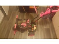 LITTLE TIKES trike in black and pink in excellent condition only used twice