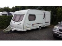 Luna clubman 2 berth with motor mover and full awning cris registered 2004