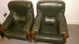 Bottle Green Leather Sofas