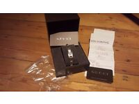 Authentic GUCCI ladies 72 diamond paved watch boxed & cards. Ideal valentines gift