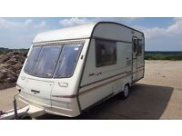 Bailey Pageant Cabriolet 2 Berth Touring Caravan with Containers and Hookup cable