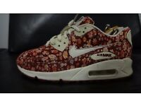 Womens Nike Air Max 90 Floral Print Trainers Size UK 4.5 Very Rare Trainers £25