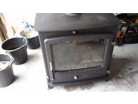 Multifuel wood burning boiler stove