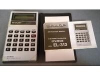 sharp elsi mate el-313 calculator