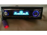 CAR HEAD UNIT KENWOOD CD MP3 PLAYER WITH USB AUX AND RCA 4 x 50 WATT STEREO AMPLIFIER RADIO