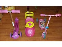 Kids toys {scooter + car}