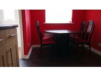 Black Extendable Dining Table