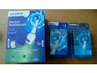 NEVADENT Set Electric Toothbrush Professional 3 settings LED Display + 24 replacement heads!