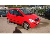 Mercedes A140 1.4 2001 MOT JUNE 2017 LOW MILEAGE GOOD CONDITION P/X WELCOME