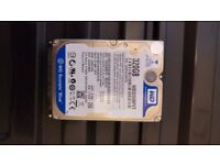 320GB WD Blue SATA 2.5inch Hard drive (laptop size)