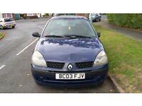 2003- Renault Clio 1.2- LONG MOT- Cheap Insurance