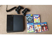 """Selling """"Playstation 4"""" 500GB Black (mid-condition) with two Controllers + Games"""