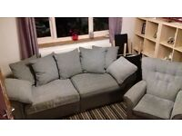 sofa and swivel chair 6mths old in vgc