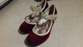 Stunning Joe Brown deep red velvet dress shoes. In perfect condition.