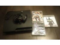 Slim ps3 150gb and three games