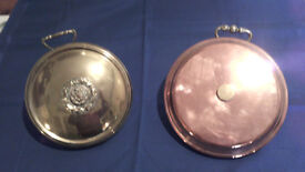 2 lovely Antique Bed Warmers - 1 Brass - 1 Copper
