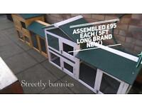 Assembled hutches 5 ft long brand new