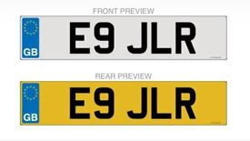E9 JLR - Private Number Plate - On Retention