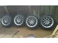 "17"" BBS MERCEDES 5X112 ALLOYS WITH TYRES"